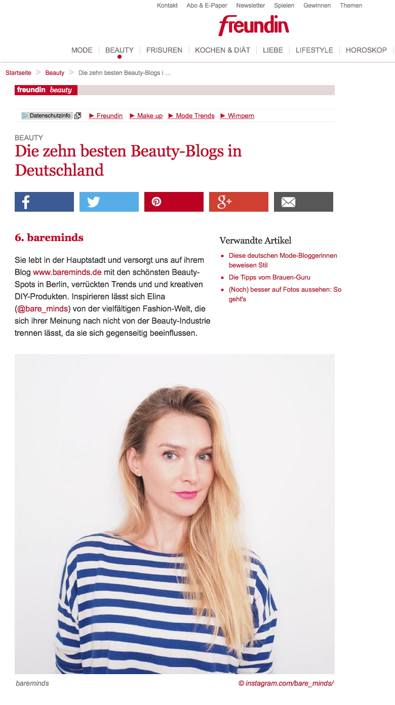bare minds, beautyblog, beauty, blog, Kosmetik, freundin