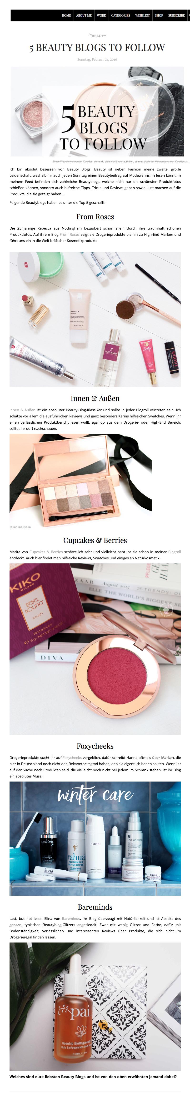 5 Beauty Blogs to Follow