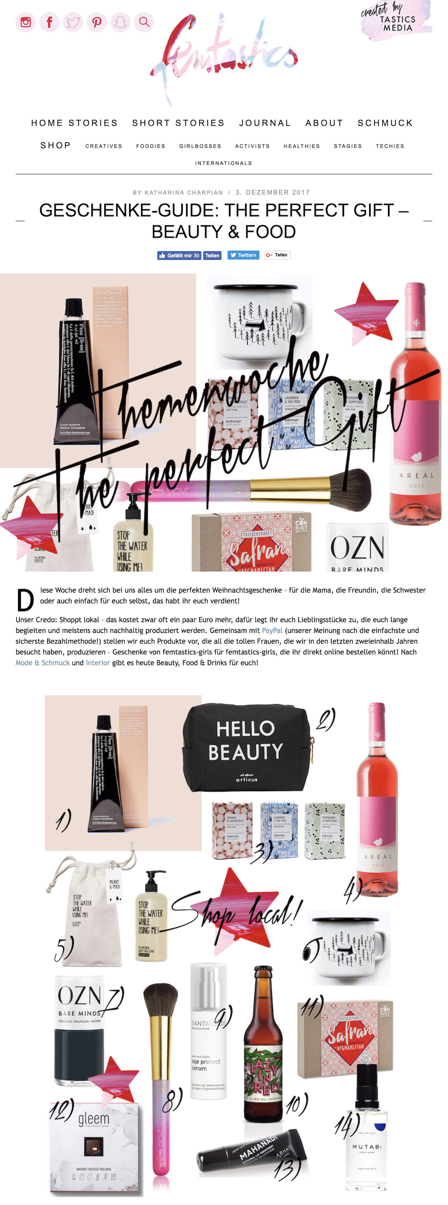 Beautyblog Beautyblogger BARE MINDS Elina Neumann_femtastics.com_03.12.2017