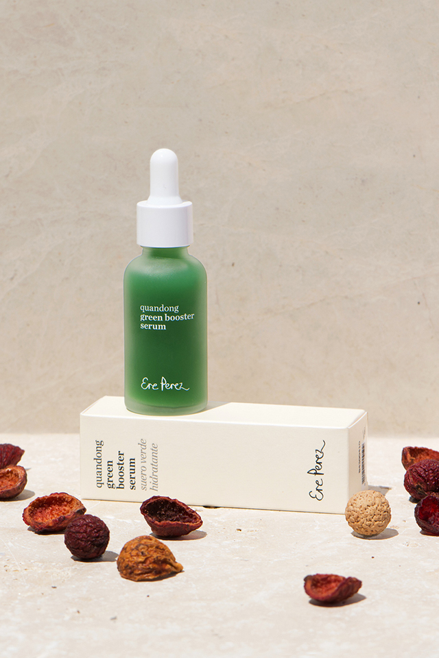 Beautyblog Bare Minds Naturkosmetik Organic Online Shop Genuine Selection Ere Perez Quandong Green Booster Serum